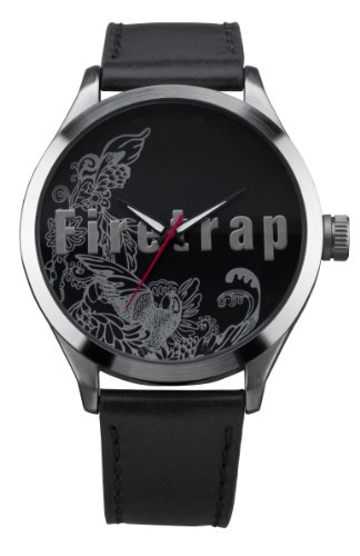 Firetrap Ft1048b Rock Bird Ladies Black Leather Strap Watch - Amazon UK
