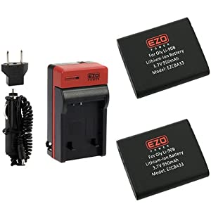EZOPower LI-90B/ LI-92B Batteries and UC-90 AC Charger Replacement Kit for Olympus Tough TG-3, TG-2 iHS, TG-1 iHS, Stylus XZ-2 iHS, SH-50 iHS, SH-1, SP-100 Digital Camera