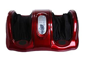 Shiatsu Kneading and Rolling Foot Massager Personal Health Studio w/ remote control AM-201-red from Shining Image