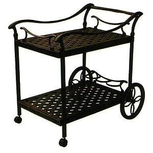Amazon Com Darlee Cast Aluminum Patio Tea Cart Antique Bronze Patio Lawn Amp Garden