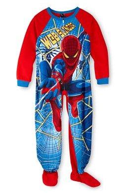 Marvel Spiderman Footed Pajama Sleepwear Kid Size 4 front-999021