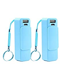 Vox Combo of 2 Portable Charger 2600 mAh USB Power Bank with Keyring PKP1x2