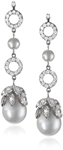 Nina 'Diandra' Fancy Baroque Pearl Cubic Zirconia Drop Earrings