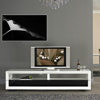 Cheap Executive 79″ TV Stand in White High Gloss (BM-628-WHT)