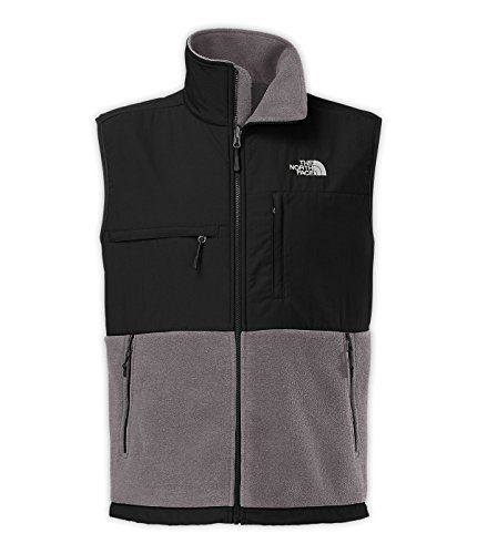 The North Face Denali Vest Men's Recycled Charcoal Grey Heather/TNF Black L