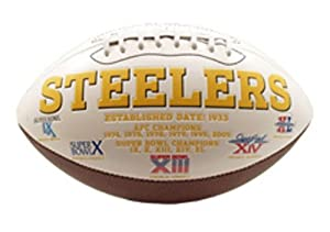 NFL Pittsburgh Steelers Signature Series Team Full Size Footballs by The License Products Company