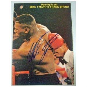 マイク・タイソン# j41559 psa dna認定の直筆サイン入り写真署名ボクシングマガジンボクシング