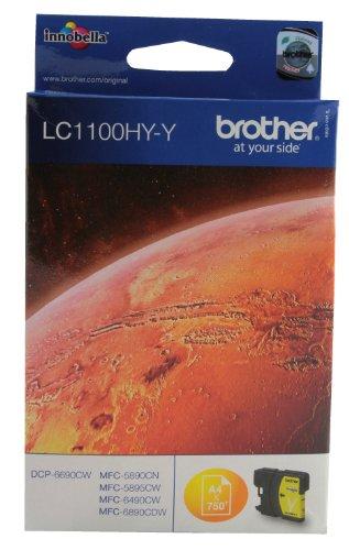 BROTHER - LC-1100HYY - CARTOUCHE D'ENCRE D'ORIGINE - 1 X JAUNE - 750 PAGES