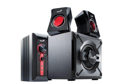 Genius SP-HF1201A 2.1 Lautsprechersystem mit Subwoofer (38 Watt) schwarz