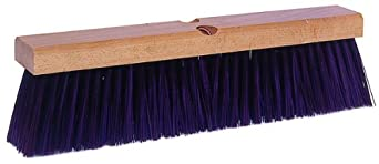 "Weiler 42026 Polypropylene Garage Brush with Wet Or Dry Sweeping, 2-1/2"" Head Width, 24"" Overall Length, Maroon"