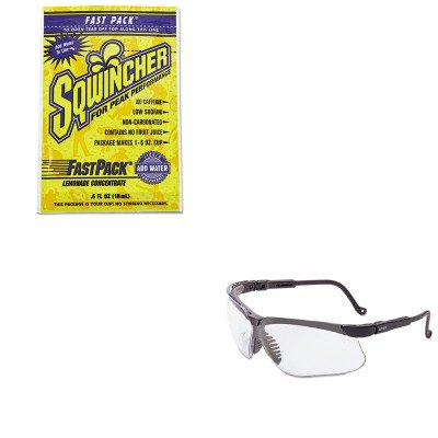 Kitsqw015303Lauvxs3200X - Value Kit - Sqwincher Corp Fast Pack Drink Package (Sqw015303La) And Uvex Genesis Safety Eyewear (Uvxs3200X)