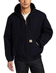 Carhartt Men\'s Big & Tall Thermal Lined Duck Active Jacket J131,Dark Navy,Large Tall