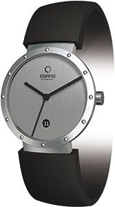 Obaku Women's V118 V118LCCXB Black Stainless-Steel Quartz Watch with Silver Dial