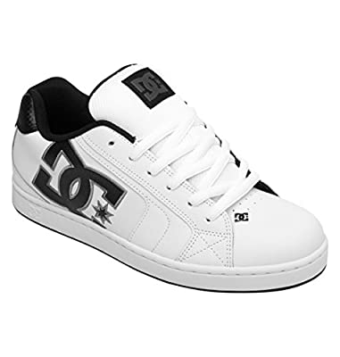 DC Men's Net Lace-Up Shoe,White/Battleship/White,10 M US