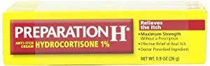 Preparation H Anti-Itch Cream with Hydrocortisone 1%, .9-Ounce Tubes (Pack of 3)