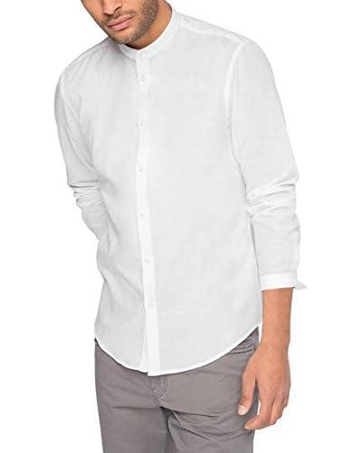 ESPRIT Camisa Hombre Blanco