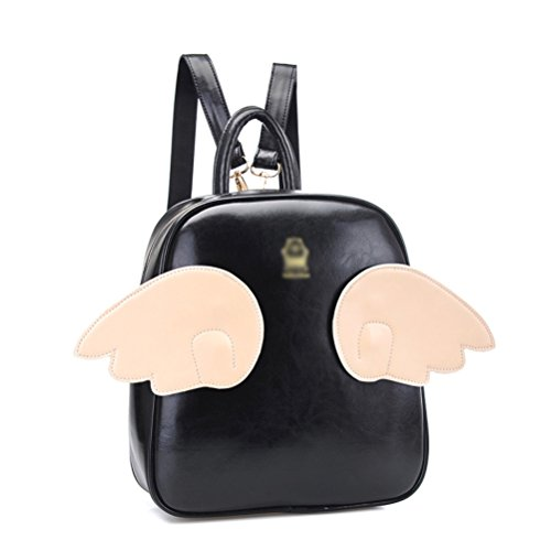 Smile Angel™ Lovely Cartoon Candy Color Fashion College Style Wings of an Angel Backpack Shoulders Bag 5 Colors