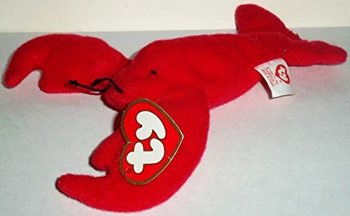 1998 McDonalds Happy Meal Toy Ty Teenie Beanie Babies #5 Pinchers the Lobster Plush Collectible - 1