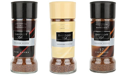 Davidoff Caf Rich Aroma, Fine Aroma & Espresso 57 Instant Coffee, 3 Jars Bundle 3.5oz/100g Each  available at amazon for Rs.1570