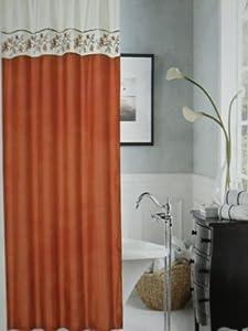 rust stephanie fabric shower curtain