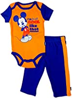 Disney Baby-boys Newborn Mickey Mouse Creeper and Pant Set 0-9 Months