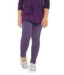 Perfect Collections Women Cotton Legging (Color: Purple, Size: Free Size)