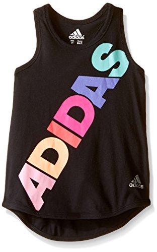 Adidas Little Girls' Active Tank Top, Black, 6