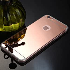 ScratchfreeCore Electroplated Mirror Finish Glossy Brushed Metal Effect Coloured Front & Back Tempered Glass For Apple iPhone 6,6S,6G