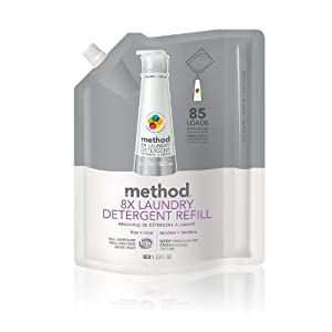 Method 8X Concentrated Laundry Detergent, Free & Clear, 85 Loads