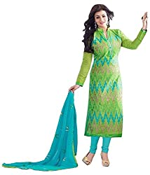 Phoenix Women's Cotton Unstitched DressMaterials (PerotKuddy_FreeSize_NewCollection_ Suits)