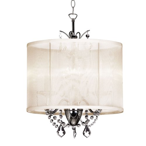 B0055SV9XY Dainolite Lighting VNA143117 3 Light Crystal Mini Chandelier,