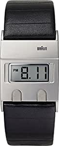 Braun - BN0076SLBKG - Montre Homme - Quartz Digital - Bracelet Cuir Noir