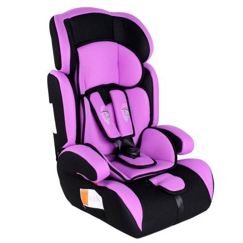 TecTake 400571 - Seggiolino per auto, gruppo I/II/III, 9-36 kg, 1-12 anni, colore: Viola/Nero