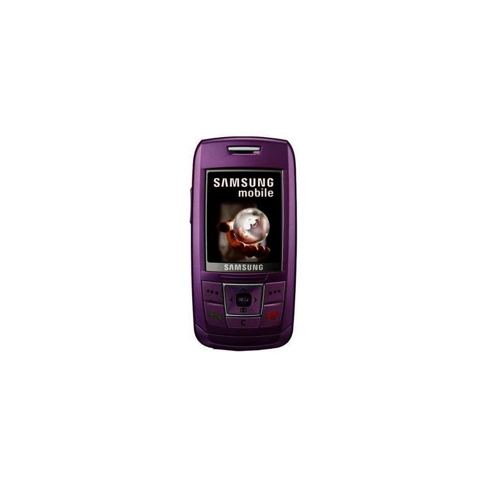 Samsung SGH E250 Unlocked Phone with Camera, Media Player, Bluetooth Music, and MicroSD Slot  International Version with No Warranty (Violet)