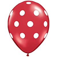 Red with White Polka Dots from Qualatex