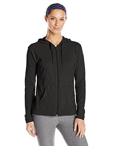 Hanes Women's Jersey Full Zip Hoodie, Black, X-Large (Lightweight Black Hood compare prices)
