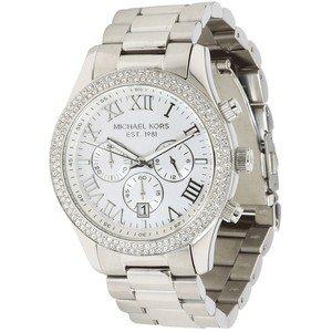 Michael Kors Layton Chronograph Silver Dial Ladies