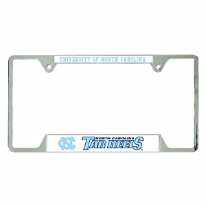 NCAA North Carolina Tar Heels Metal License Plate Frame