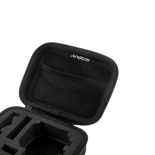 Andoer schiuma antiurto Custodia protettiva Borsa copertura per GoPro HD Hero 3 + 3 2 1 piccola macchina fotografica di sport telecamera borsa Nero (S)