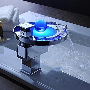 Changement de robinet vier cascade salle de bain led design unique amazon - Robinet led salle de bain ...