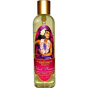 Island Essence Massage Oil, 8 Ounce, Plumeria