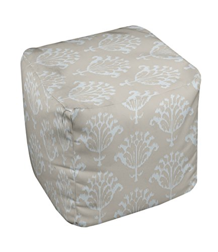 E by design FG-N16A-Oatmeal-18 Geometric Pouf