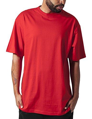Urban Classics - T-Shirt Alti Da Uomo, Colore Rosso, Taglia XL