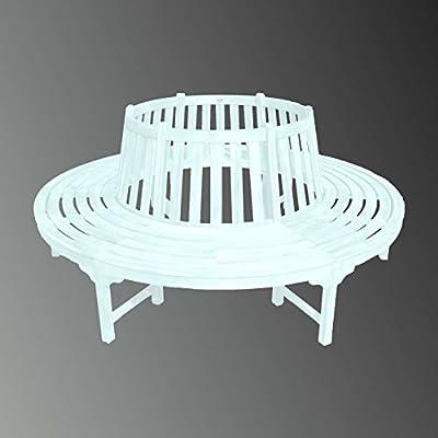 Baumbank Gartenbank Bank Holzbank Massiv Hartholz Weiß Sitzbank Aus Akazienholz von Sedex auf Gartenmöbel von Du und Dein Garten