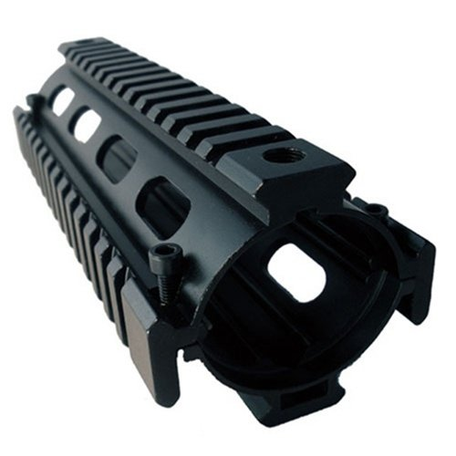 AIM Sports Solid Metal Carbine Length Weaver / Picatinny Quad Rail Handguard System