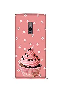 OnePlus One Perfect fit Matte finishing CUPCAKE Illustration Mobile Backcover designed by Abaci(Pink)