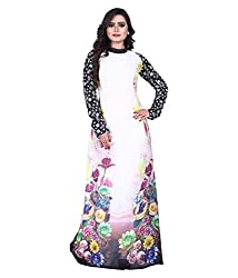 Shubh Women's Georgette Semi Stitched Dress Material (Shubh_117_White_Free Size)