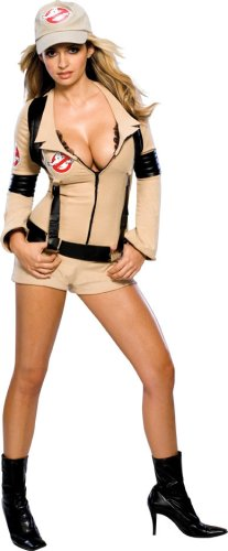 Secret Wishes Women's Sexy Ghostbuster Costume, Tan, M
