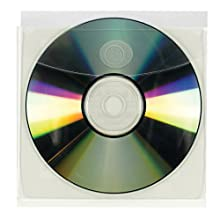 Smead Self-Adhesive Vinyl CD/Diskette Pockets with Non-Glare Front, Clear, 10 per Pack (68144)