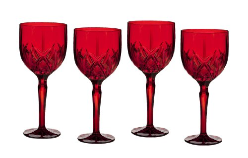 Marquis By Waterford Brookside All Purpose Wine Glasses, Red, Set Of 4